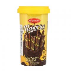 可可乐巧克力香蕉味卷心酥威化饼干250g